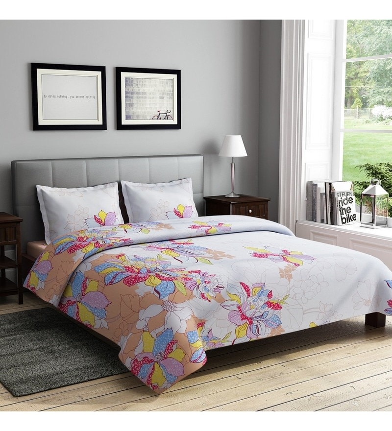 White Cotton Queen Size Bedsheet - Set of 3 by Rago