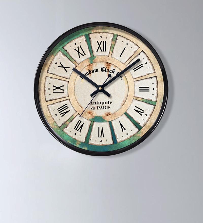 Random Black Plastic 11 x 2 x 11 Inch Classic Wall Clock