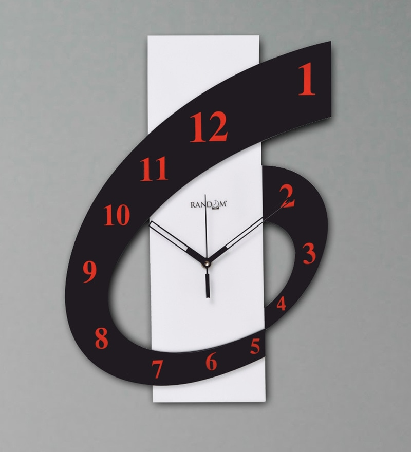 Random Multicolour Polymer 12 x 2 x 10 Inch Perfect Six Wall Clock