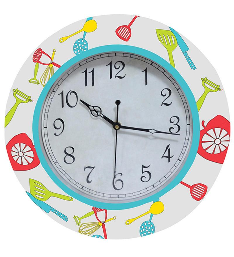 Kitchen Play Handpainted Round Clock by Rang Rage