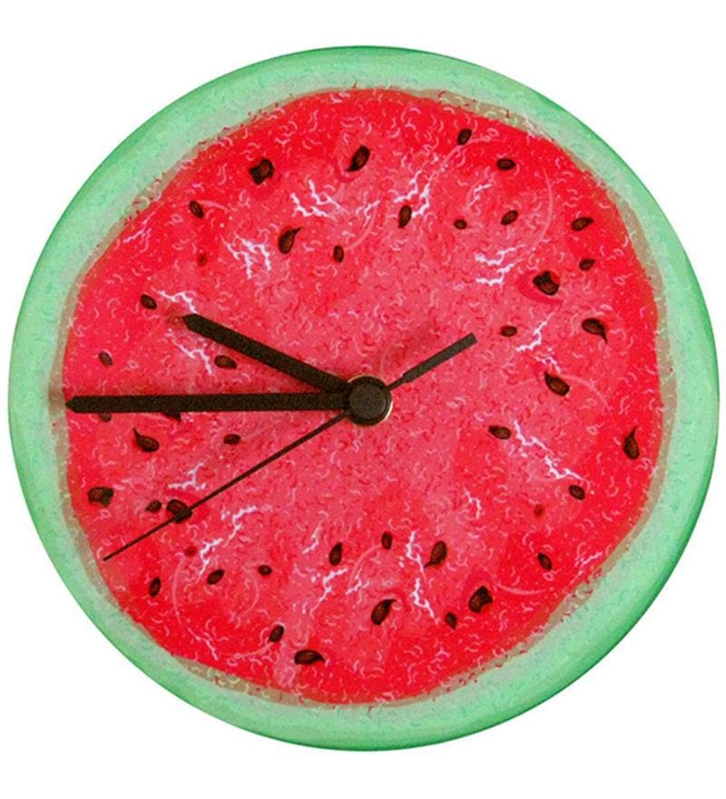 Watermelon Handpainted Round Clock by Rang Rage