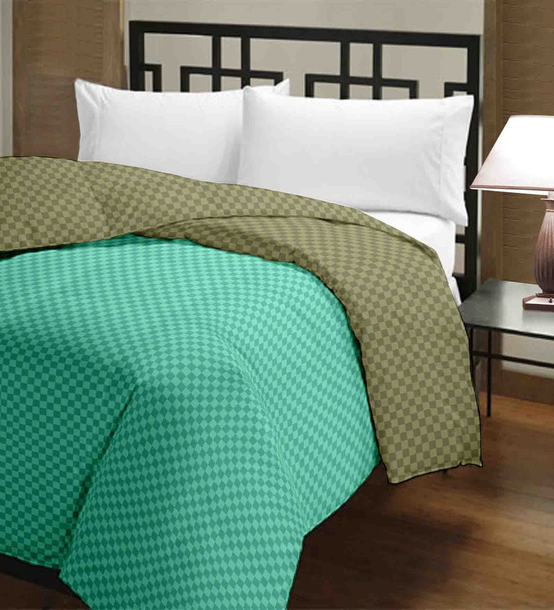 Raymond Home Greens Micro Fiber 100 x 90 Inch Double Quilt