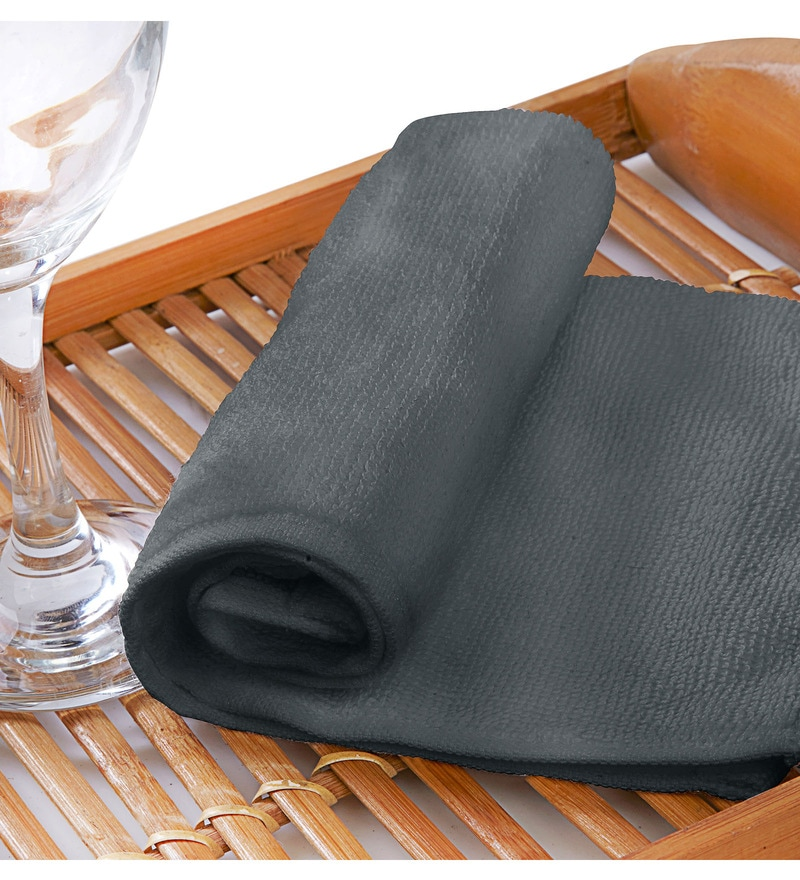 Raymond Home Flyer Gray Cotton Hand Towel Set