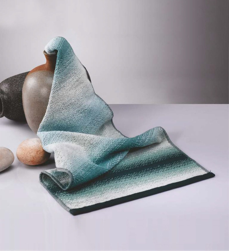 Green Cotton 30 x 60 Inch Towel by Raymond Home