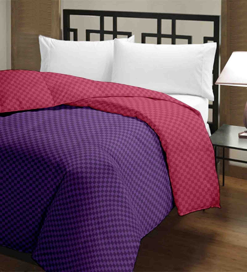 Raymond Home Pink Micro Fiber 100 x 90 Inch Double Quilt