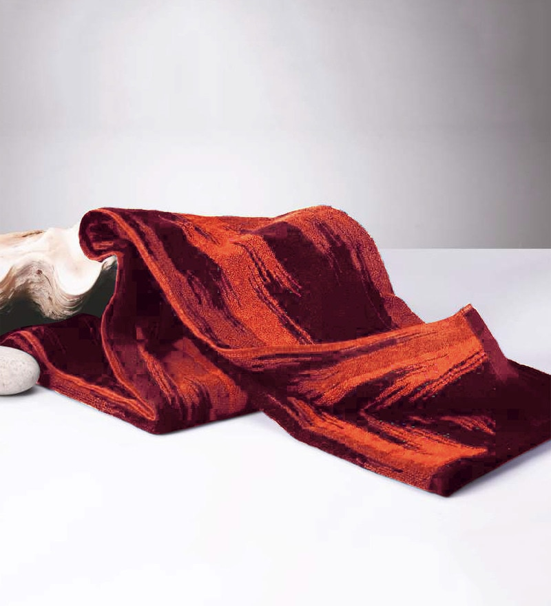 Red Cotton 24 x 60 Inch Towel by Raymond Home