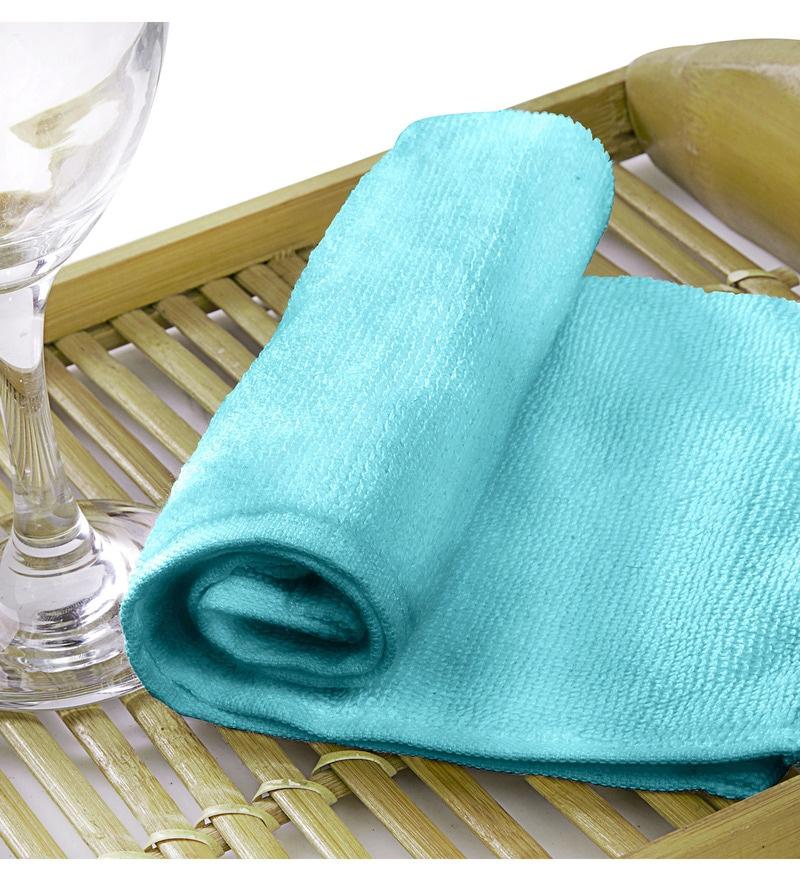 Rosalia Plus Blue Cotton Towel by Raymond Home