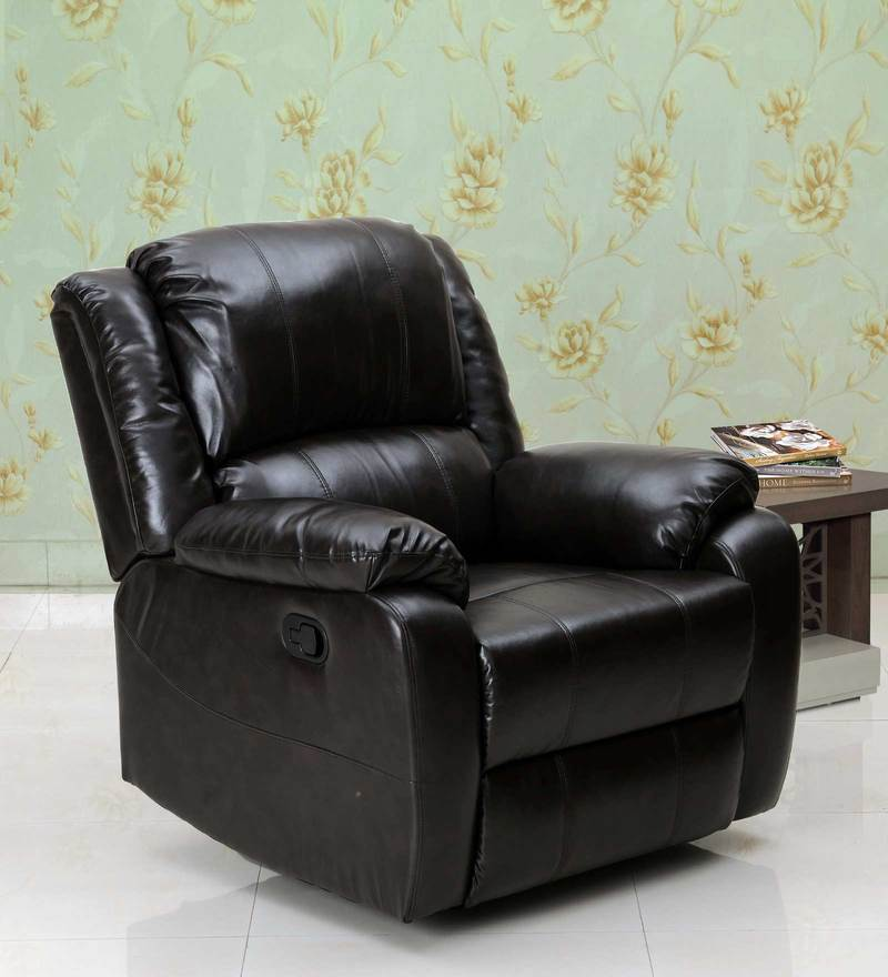 Rays One Seater Recliner in Brown Colour by Royal Oak