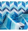 Blue Poly Cotton Queen Size Bedsheet - Set of 3 by Rago