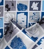 Rago Kids Star Wars Double Bedsheet in Blue & Grey with 2 Pillow Covers
