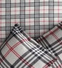 Pop Beige & Black Cotton Check Bed Sheet Set (with Pillows) by Rago