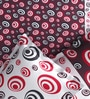 Rago Pop Maroon & Black Cotton Circles Bed Sheet Set (with Pillows)