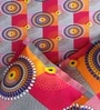 Pop Red & Gray Cotton Circles Bed Sheet Set (with Pillows) by Rago