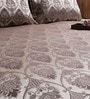Ramabhakta Grey Abstract Patterns Cotton Queen Size Bed Sheets - Set of 3