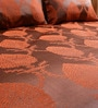 Ramabhakta Oranges Indian Ethnic Cotton Queen Size Bed Sheets - Set of 3