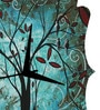 Rang Rage Art Forest Handpainted Quaterfoil Clock