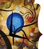 Rang Rage Art Universe Handpainted Quaterfoil Clock