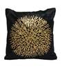 Rang Rage Black & Gold Poly Silk 16 x 16 Inch Cushion Cover