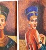 Canvas 16 x 2 x 16 Inch Egyptian Imperials Framed Art Panels - Set of 2 by Rang Rage