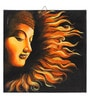 Canvas 16 x 2 x 16 Inch Hand-painted Buddha's Fire Sermon Stretched Framed Painting by Rang Rage