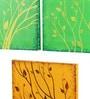 Rang Rage Canvas 16 x 2 x 16 Inch Secrets of Nature Framed Art Panels - Set of 3