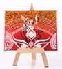 Canvas 8 x 1 x 6 Inch Classy Majestic Durga Stretched Framed Painting with Easel Stand by Rang Rage