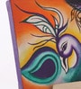 Canvas 8 x 1 x 6 Inch Funky Peacock Treasure Stretched Framed Painting with Easel Stand by Rang Rage
