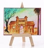 Canvas 8 x 1 x 6 Inch Funky Pride of Mumbai Stretched Framed Painting with Easel Stand by Rang Rage