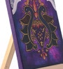 Canvas 8 x 1 x 6 Inch Funky Royal Retreat Stretched Framed Painting with Easel Stand by Rang Rage