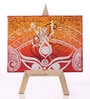 Rang Rage Multicolour Canvas The Majestic Durga Key Holder