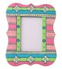 Rang Rage Multicolour Mango Wood 10 x 0.8 x 10 Inch Bright Aztec Hand Painted Photo Frame