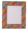 Rang Rage Multicolour Mango Wood 12 x 0.8 x 14.1 Inch Bright Floral Hand Painted Photo Frame