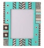 Rang Rage Multicolour Mango Wood 12 x 0.8 x 14.1 Inch Soothing Blues Hand Painted Photo Frame