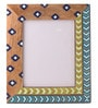 Multicolour Mango Wood 12 x 0.8 x 14.1 Inch Spring Aztec Hand Painted Photo Frame by Rang Rage