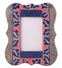 Rang Rage Multicolour Mango Wood 8 x 0.8 x 10 Inch Christmas Floral Hand Painted Photo Frame