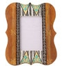 Rang Rage Multicolour Mango Wood 8 x 0.8 x 10 Inch Classy Mughal Hand Painted Photo Frame