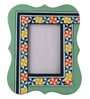 Rang Rage Multicolour Mango Wood 8 x 0.8 x 10 Inch Summer Aztec Hand Painted Photo Frame
