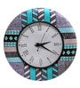 Multicolour MDF 16 Inch Round Evening Round Wall Clock by Rang Rage