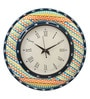 Multicolour MDF 16 Inch Summer Aztec Hand Painted Round Wall Clock by Rang Rage
