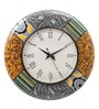 Rang Rage Multicolour MDF 16 Inch Summer Reprise Hand Painted Round Wall Clock