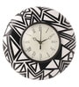 Rang Rage Multicolour MDF 9 Inch Black & White Magic Hand Painted Round Wall Clock