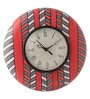 Multicolour MDF 9 Inch Geometrical Love Hand Painted Round Wall Clock by Rang Rage
