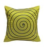 Rang Rage Lime Poly Silk 16 x 16 Inch Circle Cushion Covers - Set of 5