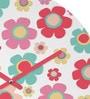 Rang Rage Polka FlowerHandpainted Round Clock