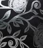 Rang Rage Silver & Black Poly Silk 16 x 16 Inch Cushion Cover