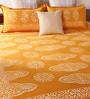 Orange Cotton Queen Size Bedsheet - Set of 3 by RangDesi