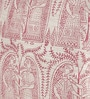 Pink Silk 16 x 16 Inch Bhagalpuri Hand Block Printed Cushion Cover by RangDesi