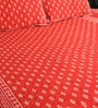 Red Cotton King Size Bedsheet - Set of 3 by RangDesi