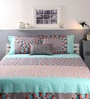 Blue Cotton Queen Size Bed sheet - Set of 3 by Raymond Home