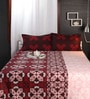 Raymond Home Browns Abstract Patterns Cotton Queen Size Bed Sheets - Set of 3